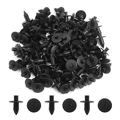 Недорогие Запчасти для автомобиля-100шт черный 7мм автомобильный бампер push-style контактный зажим пластиковая заклепка