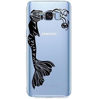 Недорогие Чехлы и кейсы для Galaxy S6 Edge-Кейс для Назначение SSamsung Galaxy С узором Соблазнительная девушка / Мультипликация Мягкий