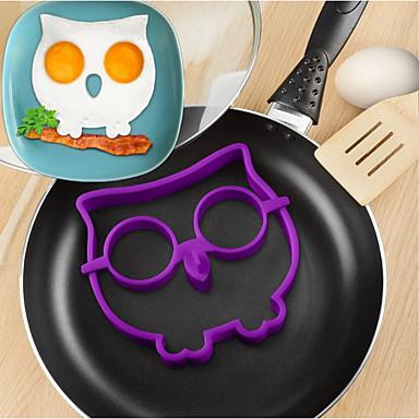 Silikon baykuş kızarmış yumurta kalıp diy omlet cihaz pişirme araçları