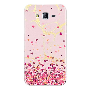voordelige Galaxy J-serie hoesjes / covers-hoesje Voor Samsung Galaxy J7 (2017) / J7 (2016) / J7 Patroon Achterkant Tegel / Hart / Marmer Zacht TPU
