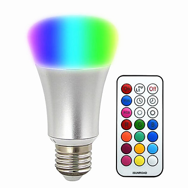 580-700lm E26 / E27 Inteligentne żarówki LED BR 30 Koraliki LED SMD 5050 Przysłonięcia Dekoracyjna Zdalnie sterowana RGB 220-240V