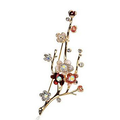 Women's Synthetic Diamond Brooches - Imitation Diamond Flower Classic, Fashion Brooch Gold For Daily / Formal
