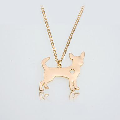 billige Mode Halskæde-Dame Halskædevedhæng Hunde Hjerte Damer Europæisk Mode Smuk Guld Sølv Halskæder Smykker Til Daglig