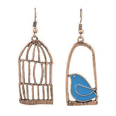 Γυναικεία Ακατάλληλο Κρεμαστά Σκουλαρίκια - Πουλί, Κλουβί πουλιού Χρυσό / Ασημί Για Καθημερινά Ημερομηνία