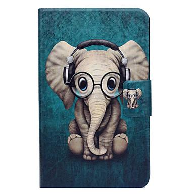 voordelige Samsung Tab-serie hoesjes / covers-hoesje Voor Samsung Galaxy Tab 3 Lite Kaarthouder / met standaard / Flip Volledig hoesje Olifant Hard PU-nahka