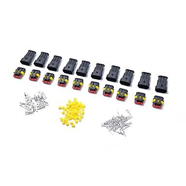 10 kituri 3 pini modul etanșat impermeabil electric conector de sârmă conector terminal auto set auto