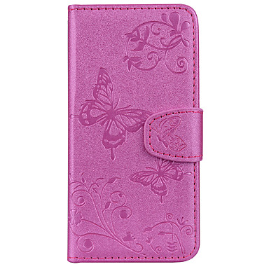 Case For Apple iPhone X iPhone 8 Card Holder Wallet with Stand Pattern Embossed Full Body Cases Butterfly Hard PU Leather for iPhone X