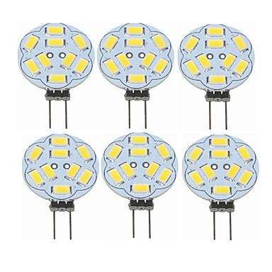 SENCART 6pcs 2 W LED-lampor med G-sockel 360 lm G4 T 9 LED-pärlor SMD 5730 Dekorativ Varmvit 12 V