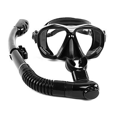 WHALE Pachet de Snorkeling / Pachete Diving - Masca de scufundare, snorkel - Anti-Ceață, Top Uscat Înot, Scufundare Silicon, Hârtie