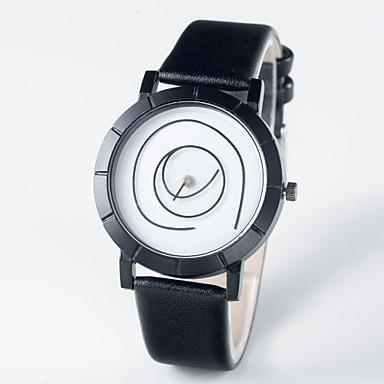 ราคาถูก นาฬิกาแบบสายหนัง-สำหรับผู้ชาย สำหรับผู้หญิง นาฬิกาใส่ลำลอง ญี่ปุ่น นาฬิกาอิเล็กทรอนิกส์ (Quartz) หนังแท้ ดำ 30 m นาฬิกาใส่ลำลอง ระบบอนาล็อก แฟชั่น - ดำ / ขาว หนึ่งปี อายุการใช้งานแบตเตอรี่