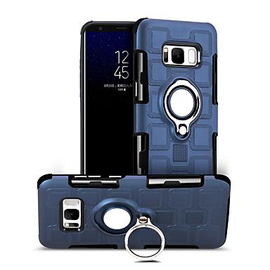 voordelige Galaxy S-serie hoesjes / covers-hoesje Voor Samsung Galaxy S8 Plus 360° rotatie / Schokbestendig / Ringhouder Achterkant Effen Hard PC