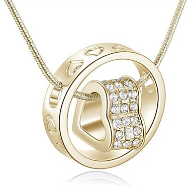 cheap Necklaces-Women's Pendant Necklace Heart Interlocking Ladies Fashion Gold Silver Necklace Jewelry For Daily