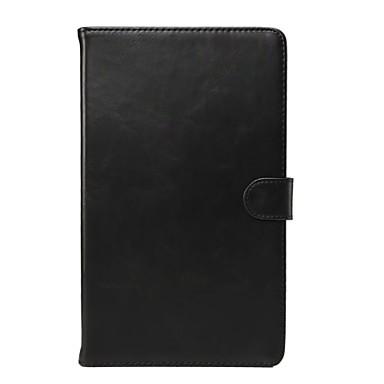 Недорогие Чехлы и кейсы для Galaxy Tab 4 10.1-Кейс для Назначение Tab S 10.5 / Tab S 8.4 / SSamsung Galaxy Tab 4 10.1 / Tab 4 8.0 / Tab Pro 10.1 Кошелек / Бумажник для карт / со стендом Чехол Однотонный Настоящая кожа