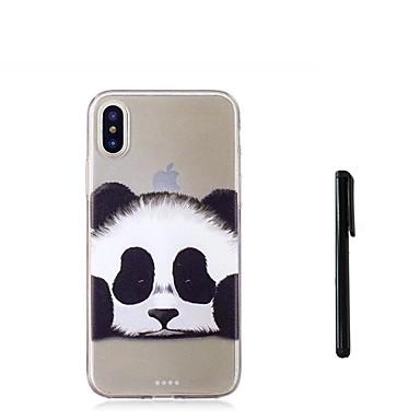 voordelige iPhone 5 hoesjes-hoesje Voor Apple iPhone XS / iPhone XR / iPhone XS Max Doorzichtig Achterkant dier / Panda Zacht TPU