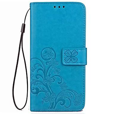 Недорогие Чехлы и кейсы для Galaxy S6-Кейс для Назначение SSamsung Galaxy S9 / S9 Plus / S8 Plus Кошелек / Бумажник для карт / Флип Чехол Цветы Твердый Настоящая кожа