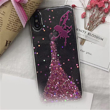 iPhone X Morbido 7 iPhone Plus iPhone 8 Per per Plus 06594880 iPhone Apple Per iPhone Glitterato disegno iPhone 7 retro TPU Custodia 8 Fantasia X qCgEtB