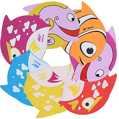 قبعات السباحة أطفال سيليكون زهري أحمر البرتقال الأصفر أزرق