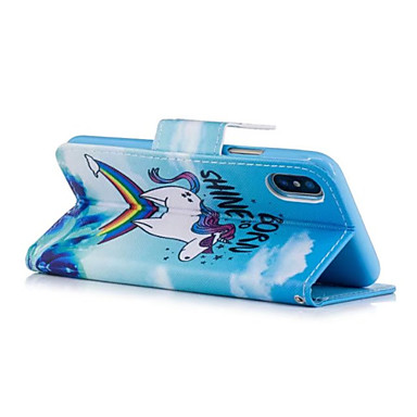 8 X Con A credito carte Resistente 06559169 Unicorno portafoglio di Porta Custodia magnetica Per pelle chiusura Integrale iPhone Apple iPhone wA1SBXq