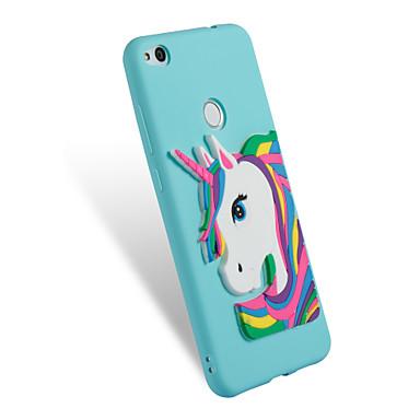 voordelige Huawei Mate hoesjes / covers-hoesje Voor Huawei P10 Lite / P8 Lite (2017) / Honor 7X Patroon / DHZ Achterkant Eenhoorn Zacht TPU