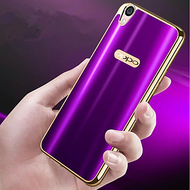 cheap OPPO-Case For OPPO Oppo R9s Plus / Oppo R9s Plating / Ultra-thin Back Cover Solid Colored Soft TPU for OPPO R9s Plus / OPPO R9s / OPPO R9 Plus