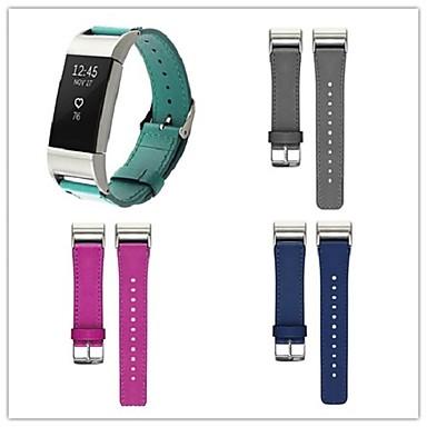 Watch Band na Fitbit Charge 2 Fitbit Bransoletka skórzana Metal Skóra Opaska na nadgarstek