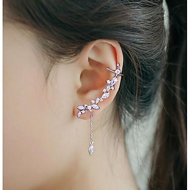 ieftine Cercei-Pentru femei Zirconiu Cubic Cătușe pentru urechi Cățărătorii de urechi Modă Argilă cercei Bijuterii Argintiu Pentru Nuntă Petrecere 1 buc