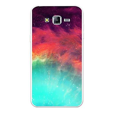 voordelige Galaxy J-serie hoesjes / covers-hoesje Voor Samsung Galaxy J7 (2017) / J7 (2016) / J7 Patroon Achterkant Landschap / Cartoon / Kleurgradatie Zacht TPU