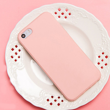 Capinha Para Apple Capinha iPhone 5 iPhone 6 iPhone 7 Antichoque Capa traseira Côr Sólida Macia TPU para iPhone 7 Plus iPhone 7 iPhone 6s