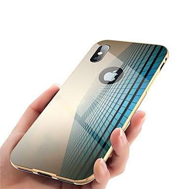 voordelige iPhone 5 hoesjes-hoesje Voor Apple iPhone X / iPhone 8 Plus / iPhone 8 Spiegel Volledig hoesje Effen Hard Metaal