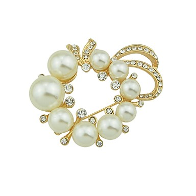 94507b2ea Women's Pearl Brooches Flower Ladies Basic Fashion Brooch Jewelry Gold For  Daily Date #06616524
