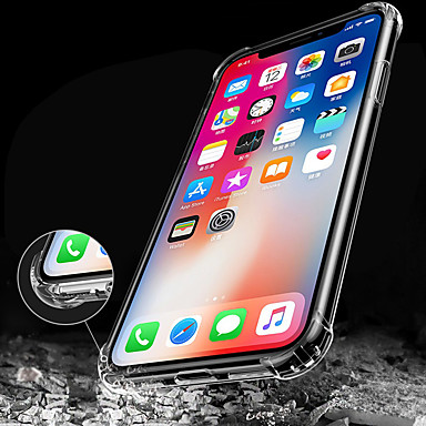 Case For Apple iPhone X iPhone 8 iPhone 8 Plus iPhone 6 iPhone 6 Plus Shockproof Transparent Back Cover Solid Color Soft TPU for iPhone X