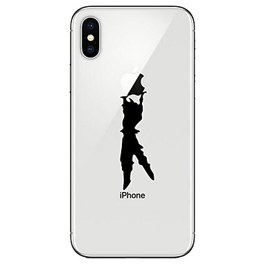 voordelige iPhone 6 hoesjes-hoesje Voor Apple iPhone X / iPhone 8 Plus / iPhone 8 Transparant / Patroon Achterkant Spelen met Apple-logo Zacht TPU