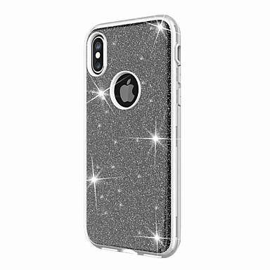 8 Resistente Glitterato Per sottile per X Ultra 8 Glitterato iPhone iPhone Plus Custodia retro iPhone 06631877 Per iPhone iPhone X Acrilico Apple nWX87Fq