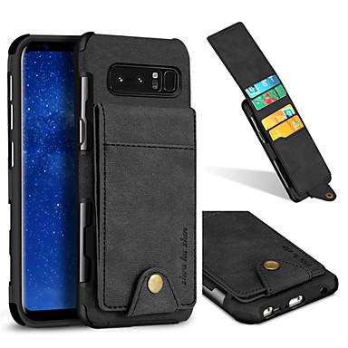 voordelige Galaxy Note-serie hoesjes / covers-hoesje Voor Samsung Galaxy Note 8 Kaarthouder / Schokbestendig Achterkant Effen Hard tekstiili