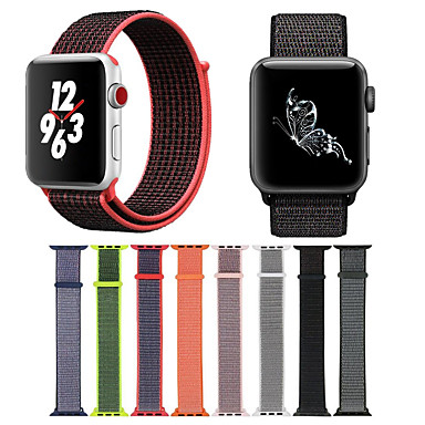 Horlogeband voor Apple Watch Series 4/3/2/1 Apple Moderne gesp Nylon Polsband