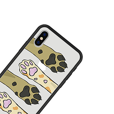 iPhone per Custodia animati retro Plus X Apple 06639357 Fantasia iPhone cagnolino Per disegno Resistente Per iPhone Acrilico Con Gatto 8 Cartoni UxwpBxAq