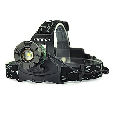 levne Čelovky-Čelovky bezpečnostní světla Přední světlo LED LED Vysílače 5000 lm 1 Režim osvětlení Kempování a turistika Lov Zelená