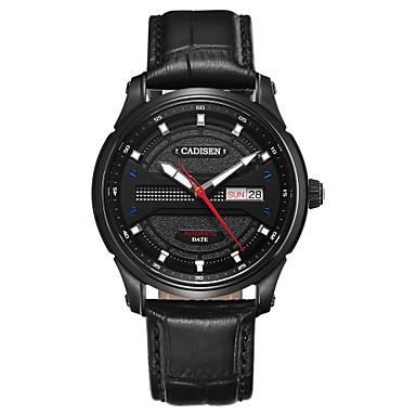 Χαμηλού Κόστους Ανδρικά ρολόγια-CADISEN Ανδρικά μηχανικό ρολόι Ιαπωνικά Γνήσιο δέρμα Μαύρο 50 m Ανθεκτικό στο Νερό Ημερολόγιο Cool λέξη / φράση Αναλογικό Πολυτέλεια Μοντέρνα - Μαύρο Μαύρο / Χρυσό Τριανταφυλλί / Ανοξείδωτο Ατσάλι
