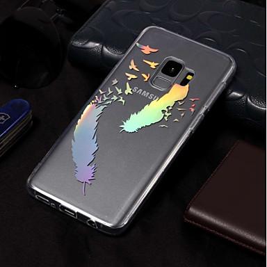 Недорогие Чехлы и кейсы для Galaxy S3-Кейс для Назначение SSamsung Galaxy S9 / S9 Plus / S8 Plus Покрытие / С узором Кейс на заднюю панель Перья Мягкий ТПУ