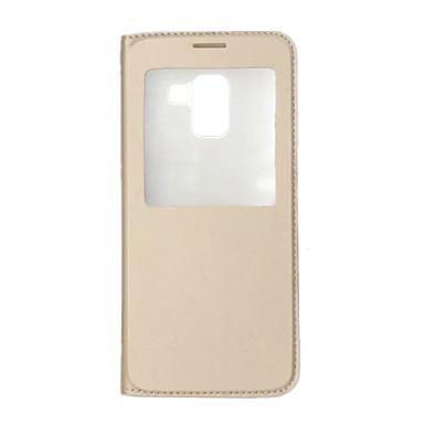 voordelige Galaxy A-serie hoesjes / covers-hoesje Voor Samsung Galaxy A8 2018 / A8+ 2018 met standaard / met venster / Flip Volledig hoesje Effen Hard PU-nahka