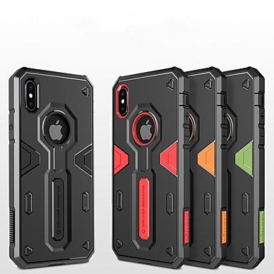 Недорогие Кейсы для iPhone-Кейс для Назначение Apple iPhone X / iPhone 8 Pluss / iPhone 8 Защита от удара / Рельефный / броня Кейс на заднюю панель броня Твердый ПК