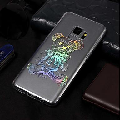 Недорогие Чехлы и кейсы для Galaxy S3-Кейс для Назначение SSamsung Galaxy S9 / S9 Plus / S8 Plus IMD / С узором Кейс на заднюю панель Животное Мягкий ТПУ