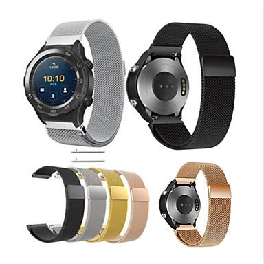 Недорогие Ремешки для часов Huawei-Ремешок для часов для Huawei Watch 2 Huawei Миланский ремешок Нержавеющая сталь Повязка на запястье