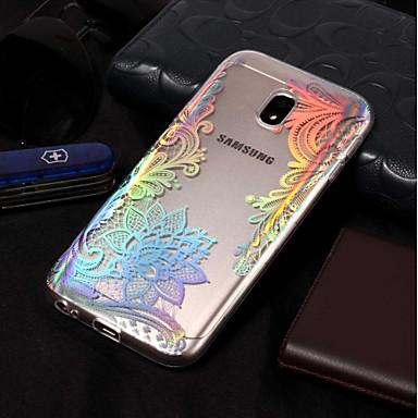 voordelige Galaxy J-serie hoesjes / covers-hoesje Voor Samsung Galaxy J7 (2017) / J7 (2016) / J7 Beplating / Patroon Achterkant Lace Printing Zacht TPU