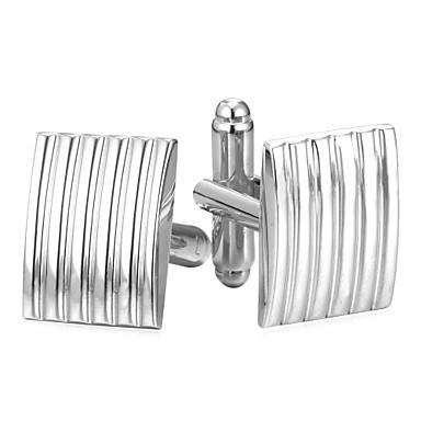 billige Manchetknapper-Rektangulær Sølv / Gylden Manchetter Plastik Simple / Mode Herre Kostume smykker Til Daglig