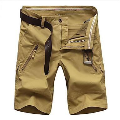 economico Pantaloni da uomo-Per uomo Essenziale Sport Pantaloncini Pantaloni - Tinta unita Basic Rosso Verde militare Cachi 38 35 42