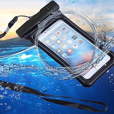 케이스 제품 Apple iPhone 7 / iPhone 6 방수 / 지갑 / 투명 파우치 백 솔리드 소프트 ABS + PC 용 iPhone X / iPhone 8 Plus / iPhone 8