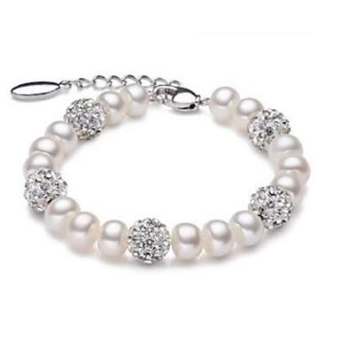 voordelige Fijne Sieraden-Dames Zoetwaterparel Kralenarmband Bal Dames Modieus Parel Armband sieraden Wit Voor Feest Dagelijks