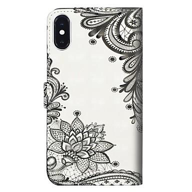 Resistente agli Plus iPhone Fiore Custodia supporto Resistente 06715239 X urti A Apple Per Integrale 8 iPhone portafoglio Con decorativo zwqpHw4