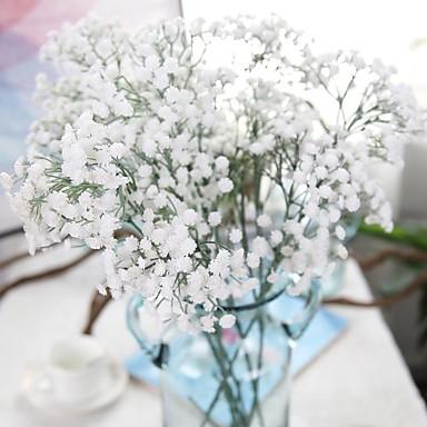 زهور اصطناعية 3 فرع أنيق زهري ورادت ناعمة الزهور الخالدة أزهار الطاولة